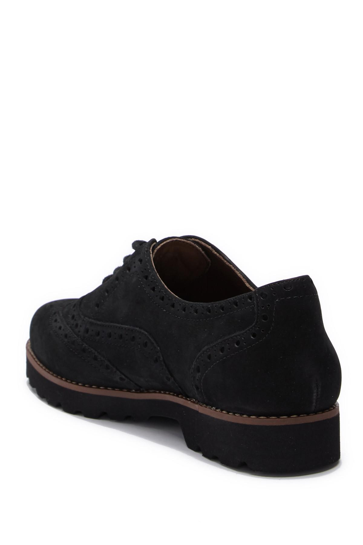 90ad5cd5739 Lyst - Earthies Santana Wingtip Leather Oxford in Black