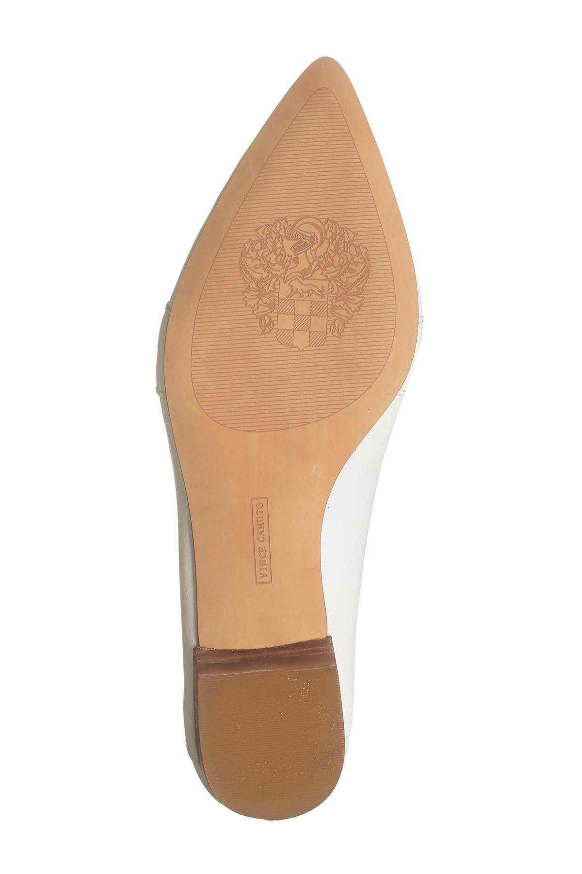 31caa1d5bc9 Vince Camuto - White Maita Pointed Toe Leather Loafer - Lyst. View  fullscreen