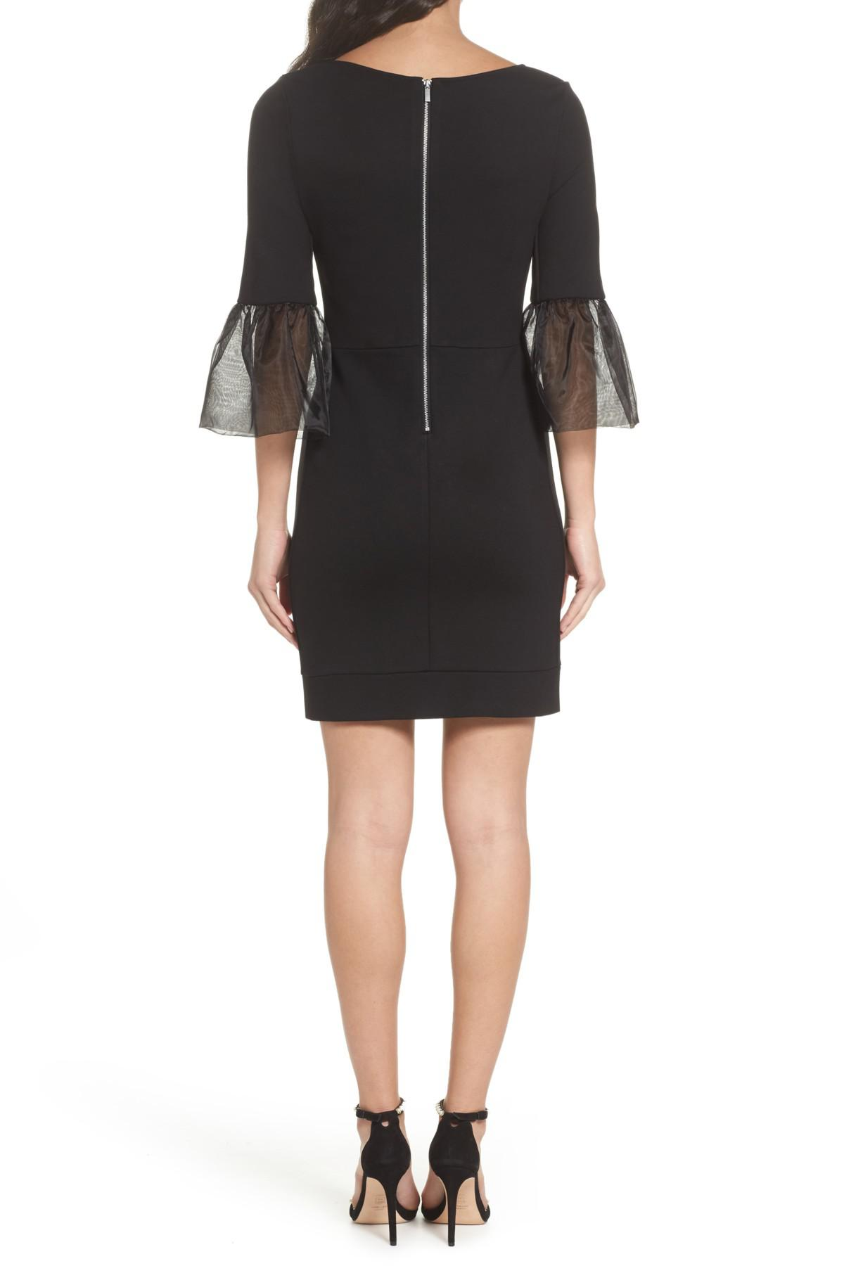 88900427b9d Lyst - French Connection Lula Bell Sleeve Bodycon Dress in Black ...