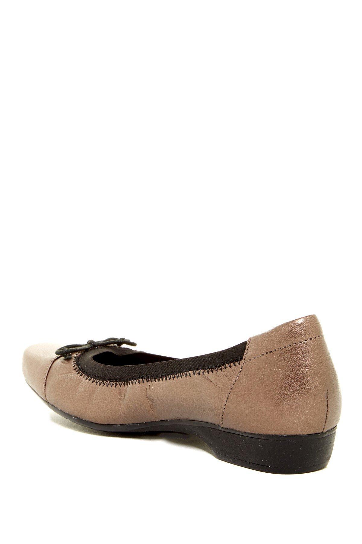Pewter Satin Flat Shoes