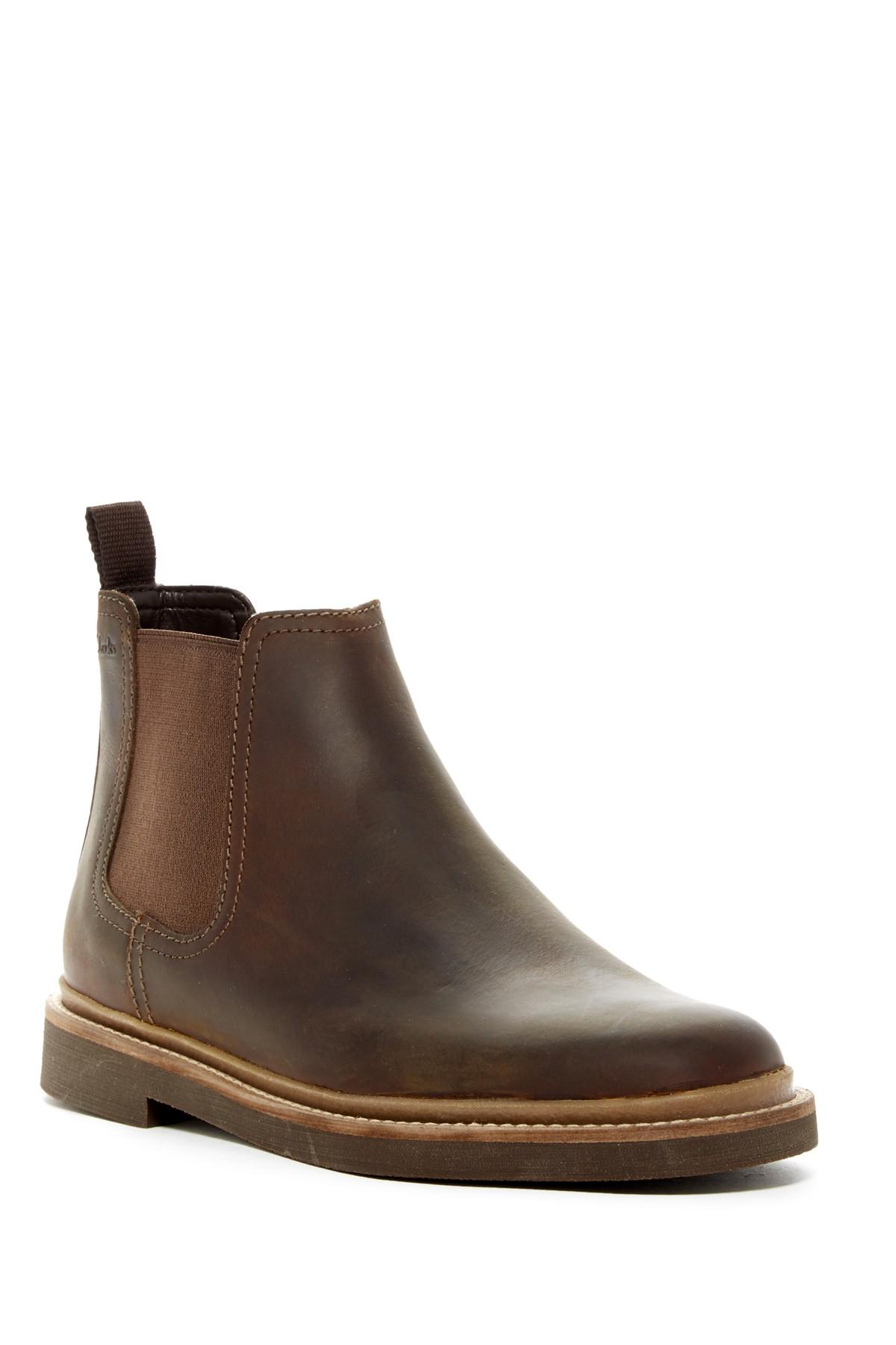 Lyst Clarks Bushacre Up Chelsea Boot In Brown For Men