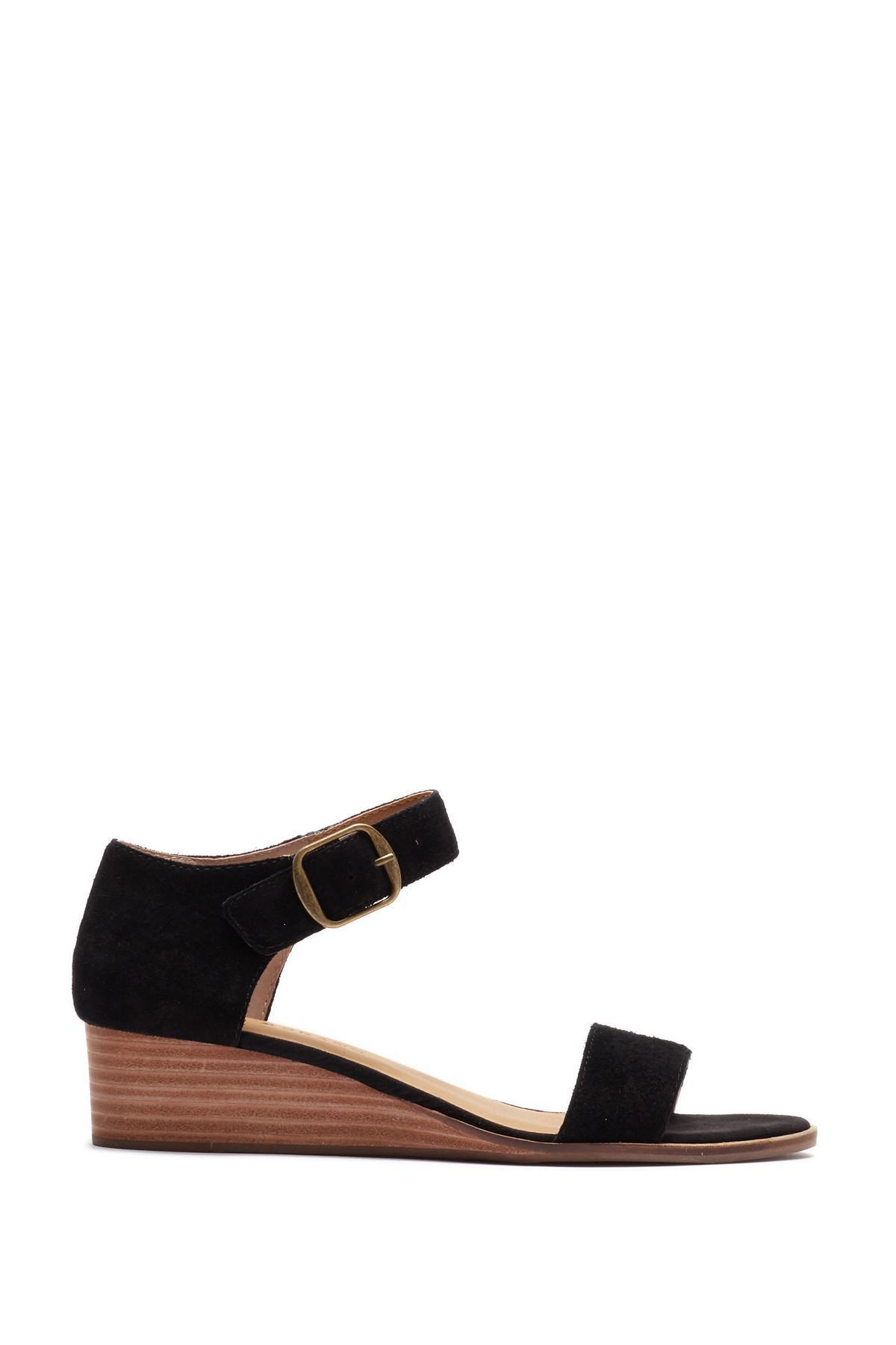 498e8da3135 Lyst - Lucky Brand Renzee Platform Sandal in Black