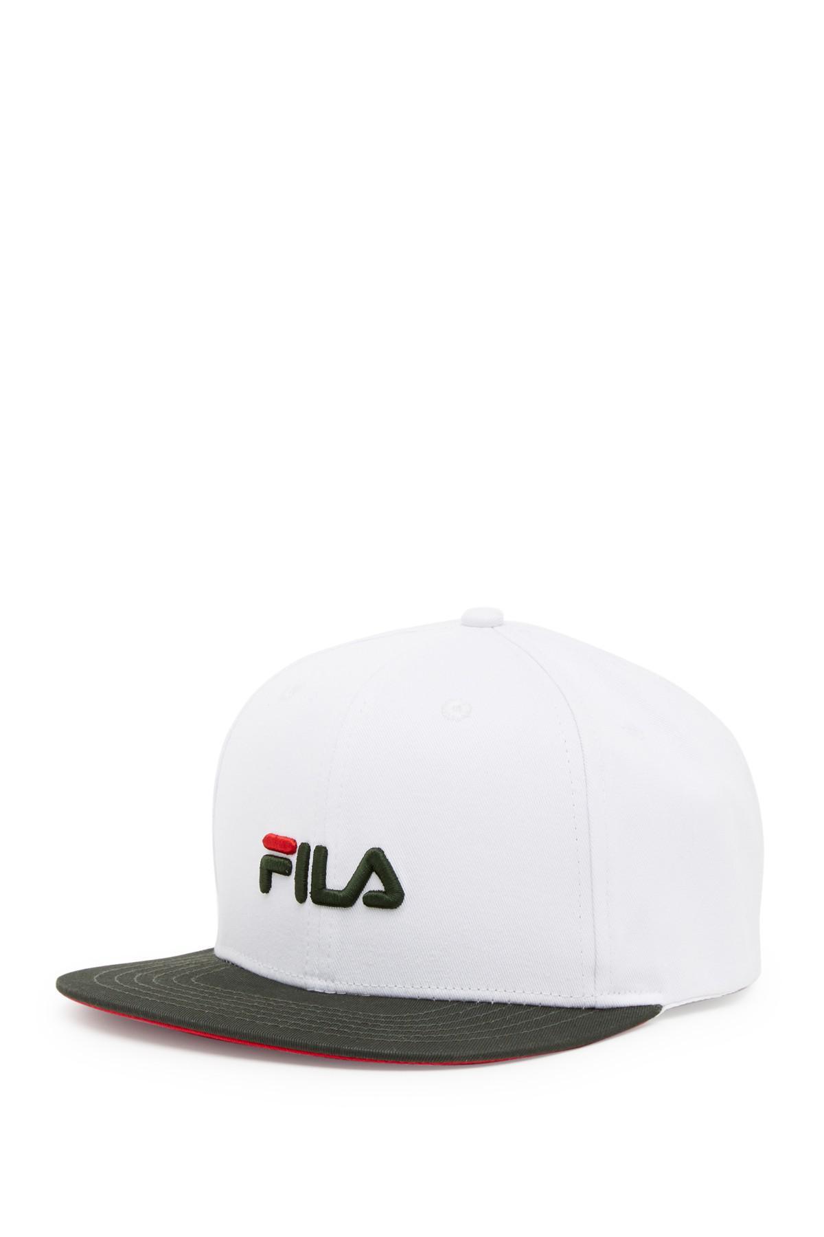 7cfe66a3d27 Lyst - Fila Heritage Flat Brim Flexfit Baseball Cap in White for Men