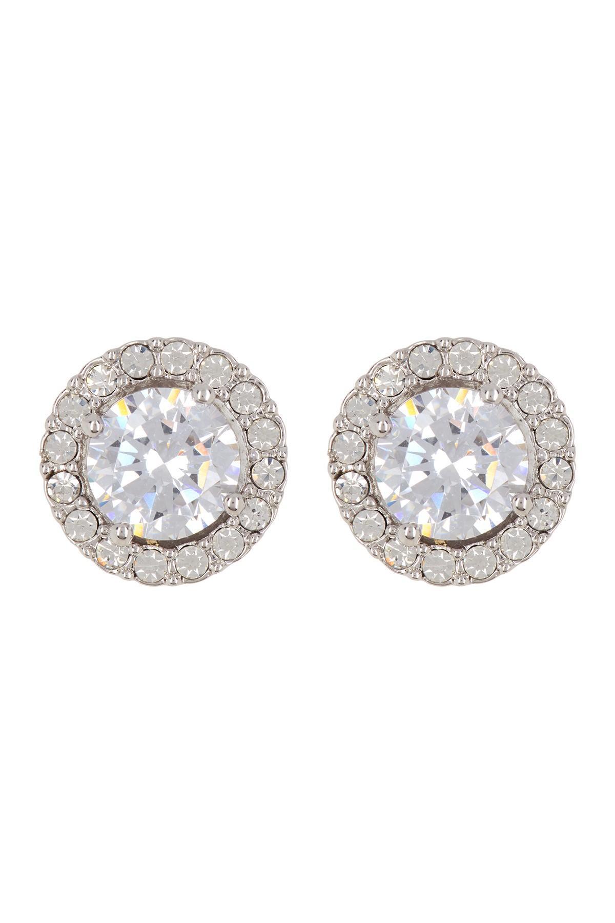 ff87b02b7 Nadri Cz Framed Stud Earrings in Metallic - Lyst