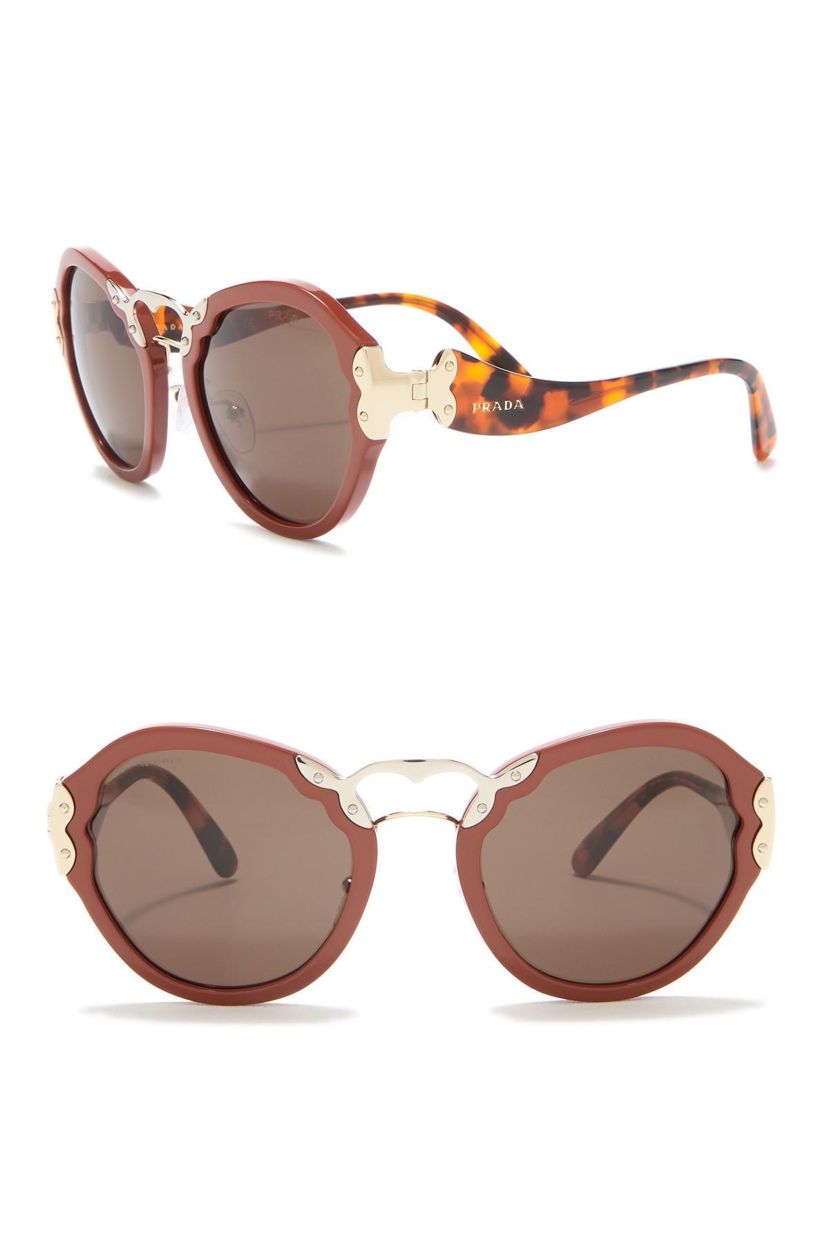 854a8f4a8cb Prada - Orange Irregular Catwalk 54mm Sunglasses - Lyst. View fullscreen