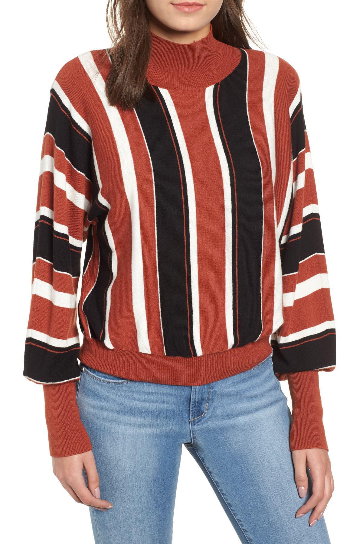 cddd1c40e Lyst - Leith Stripe Dolman Sleeve Sweater (regular   Plus Size) in ...