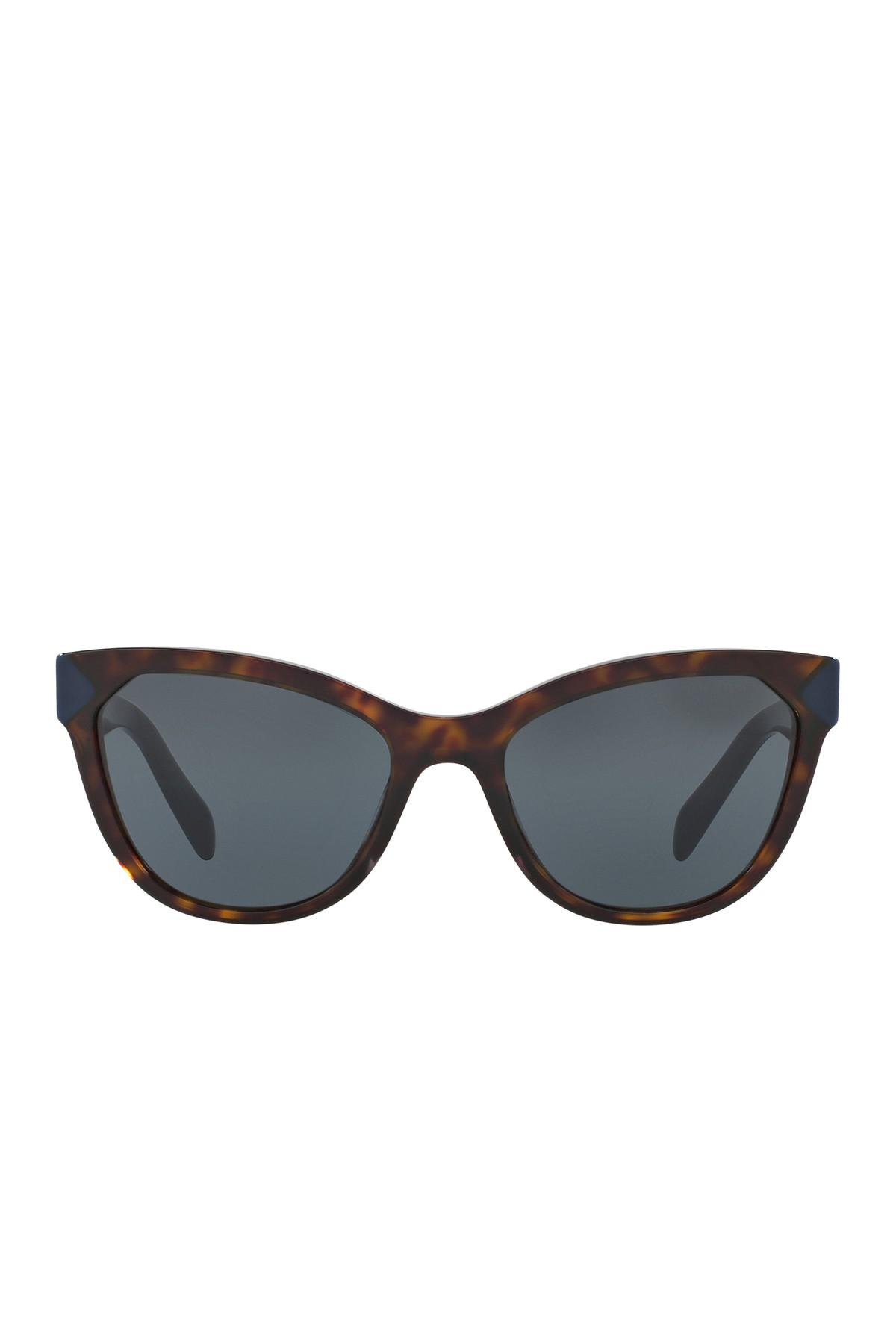 9d64b27fed3 ... best price prada 56mm heritage acetate cat eye sunglasses lyst 6856b  a759f
