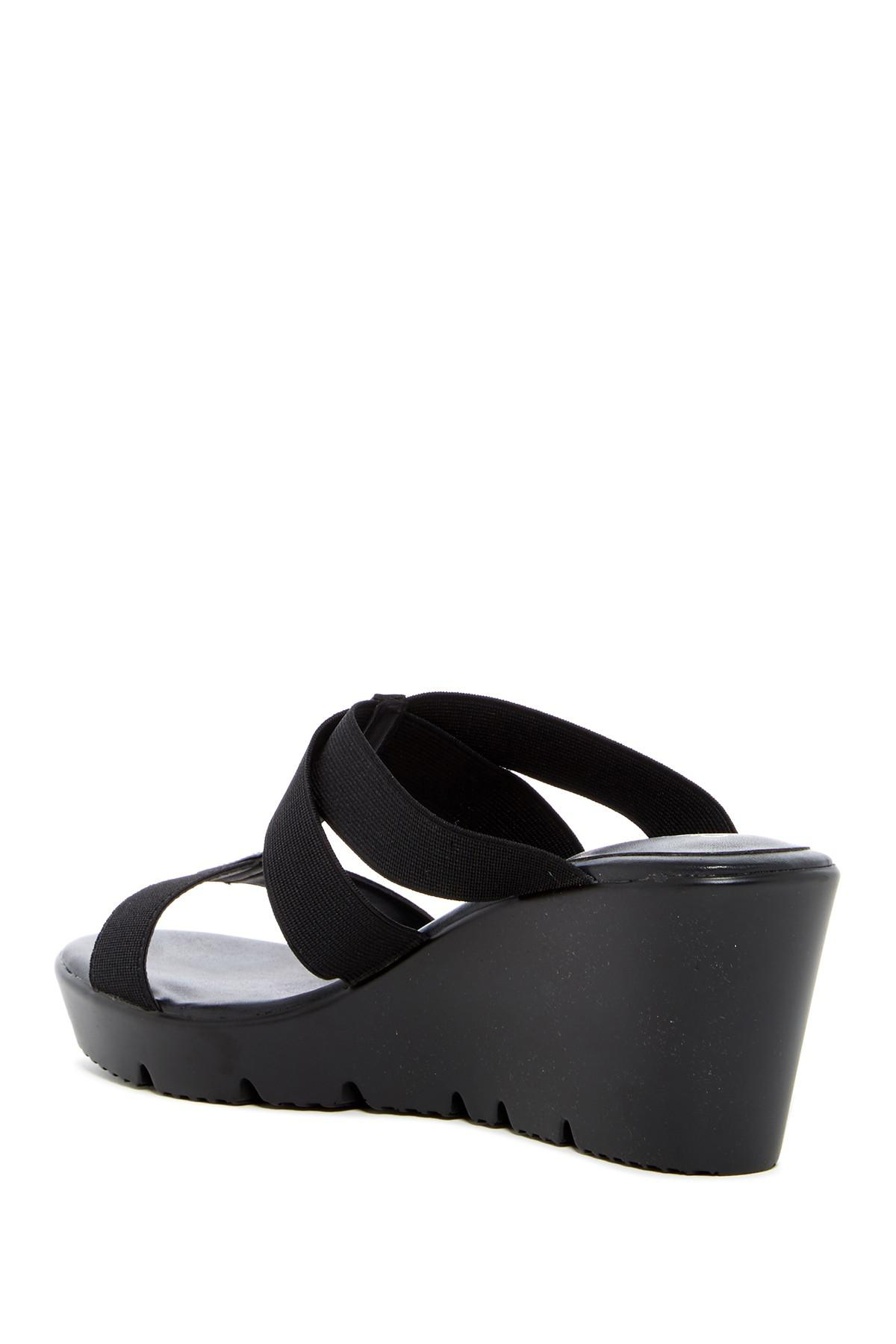 edca95b5a6b Lyst - Charles David Veep Wedge Sandal in Black