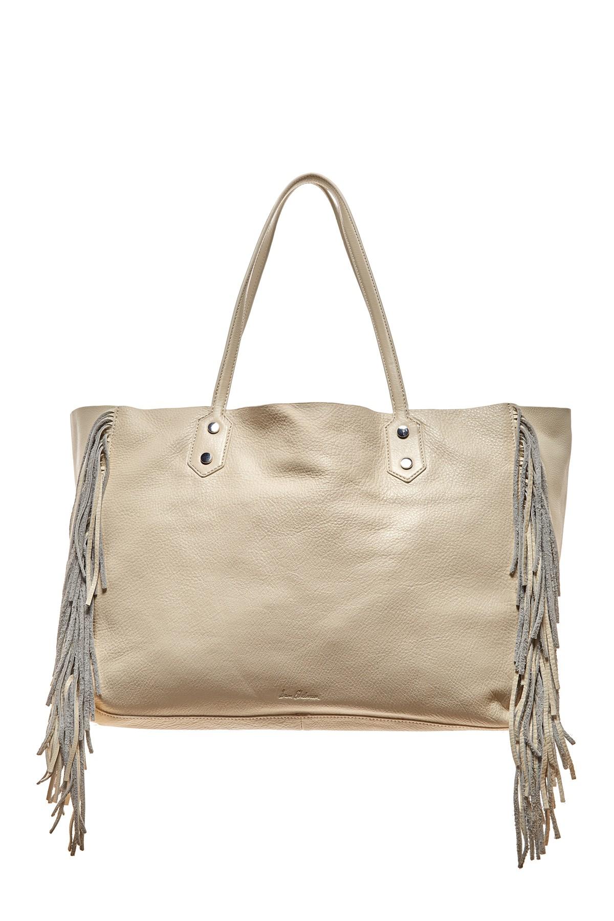 Sam Edelman Payton Leather Fringe Tote Bag In Natural Lyst