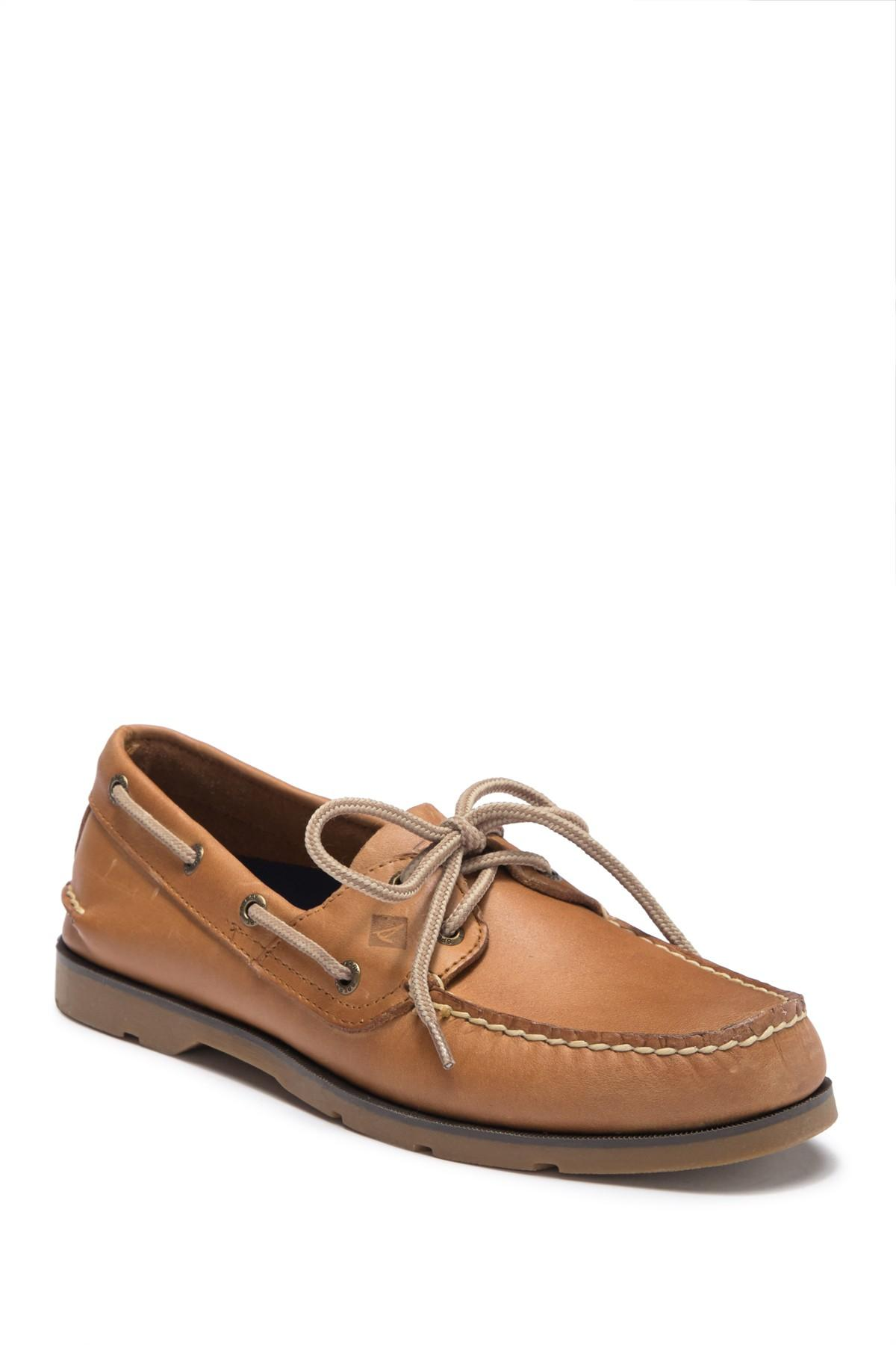 643f8e2c478 Lyst - Sperry Top-Sider Leeward Leather Boat Shoe in Brown for Men