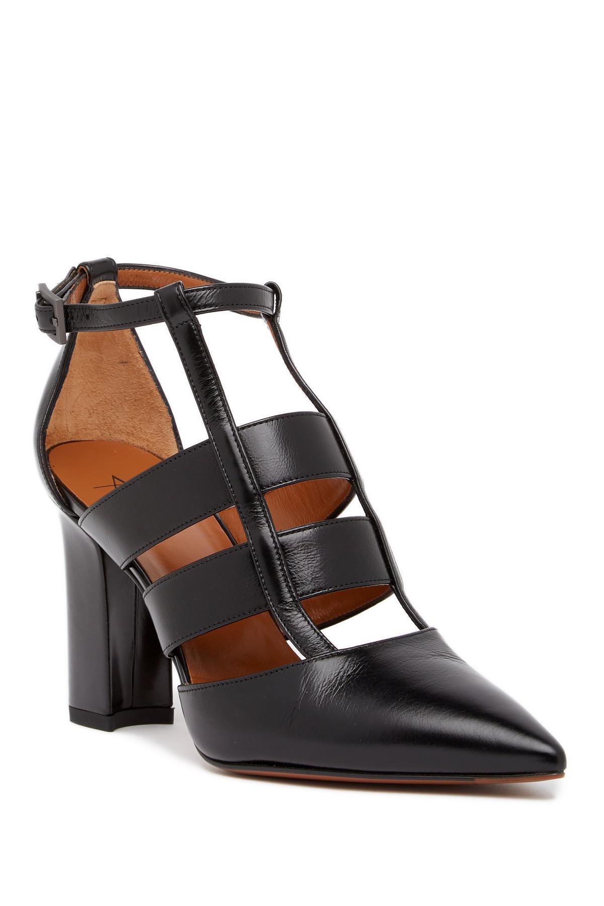 1e0280459bf Lyst - Aquatalia Helene Weatherproof Caged Pointed Toe Pump in Black