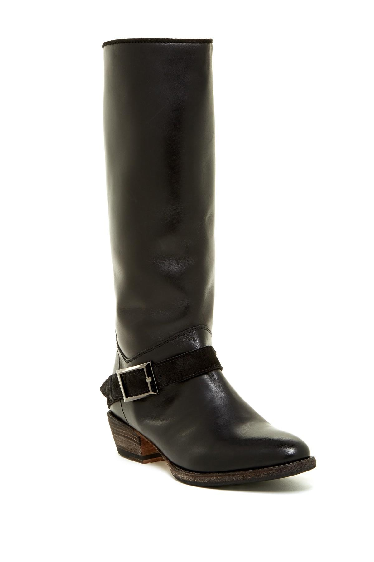 Blackstone Boot Tall Black Strap Leather Lyst In Buckle HxqXFdnwp