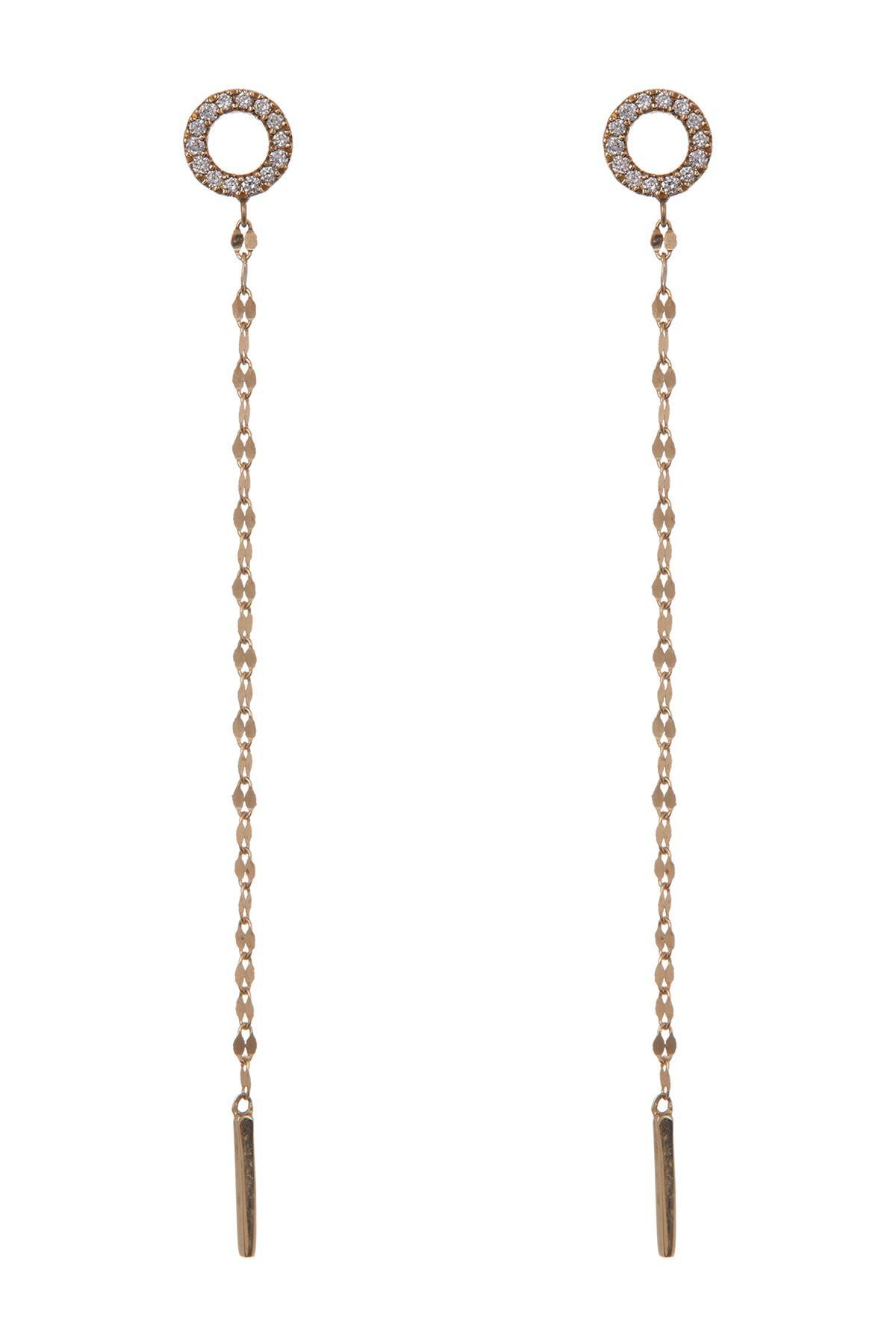 Lana Jewelry Multi-Circle Linear Drop Earrings aJxdpp