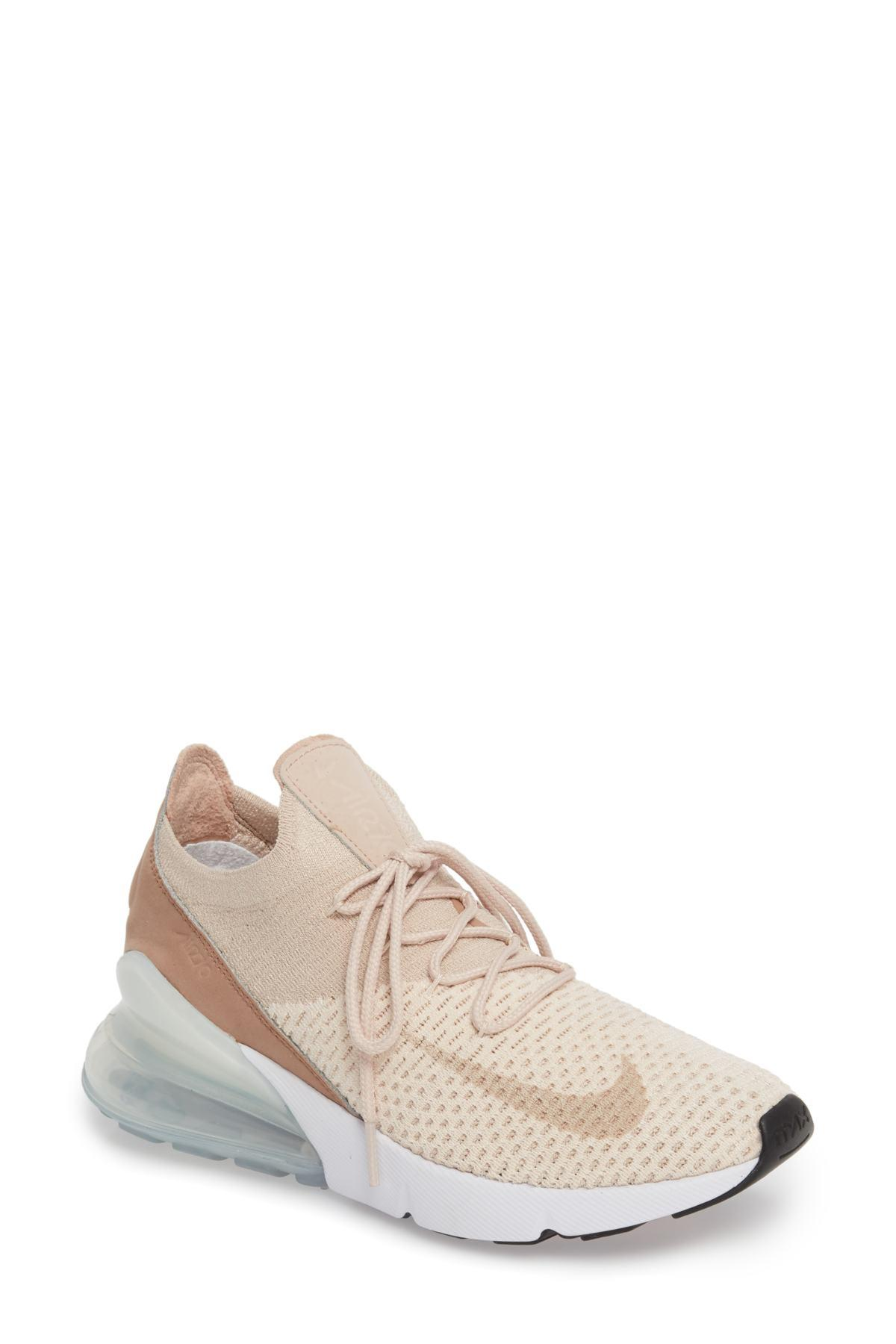 3a9fa28ffbae8 Lyst - Nike Air Max 270 Flyknit Sneaker (women) in Natural
