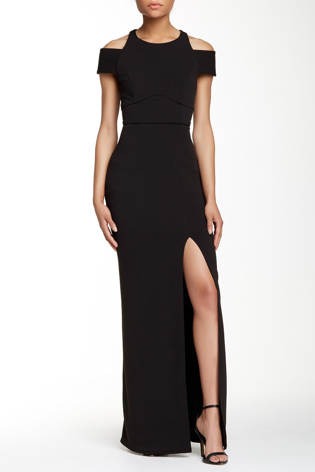 cc70e8b6eab0aa Lyst - Abs By Allen Schwartz Cut-out Crepe Gown in Black