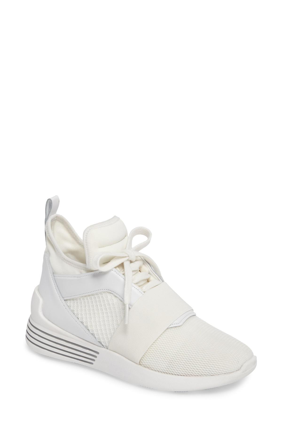 44e513439 Kendall + Kylie Braydin Hidden Wedge Sneaker in White - Lyst