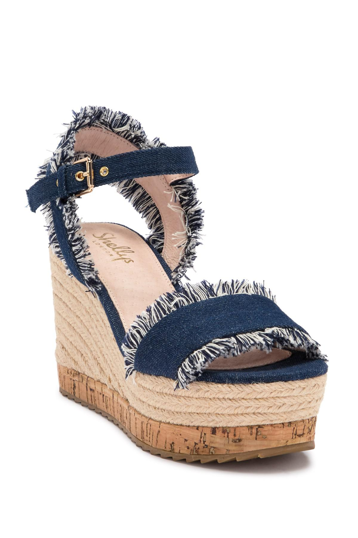 12bea819142 Lyst - Shellys London Daphne Wedge Sandal in Blue