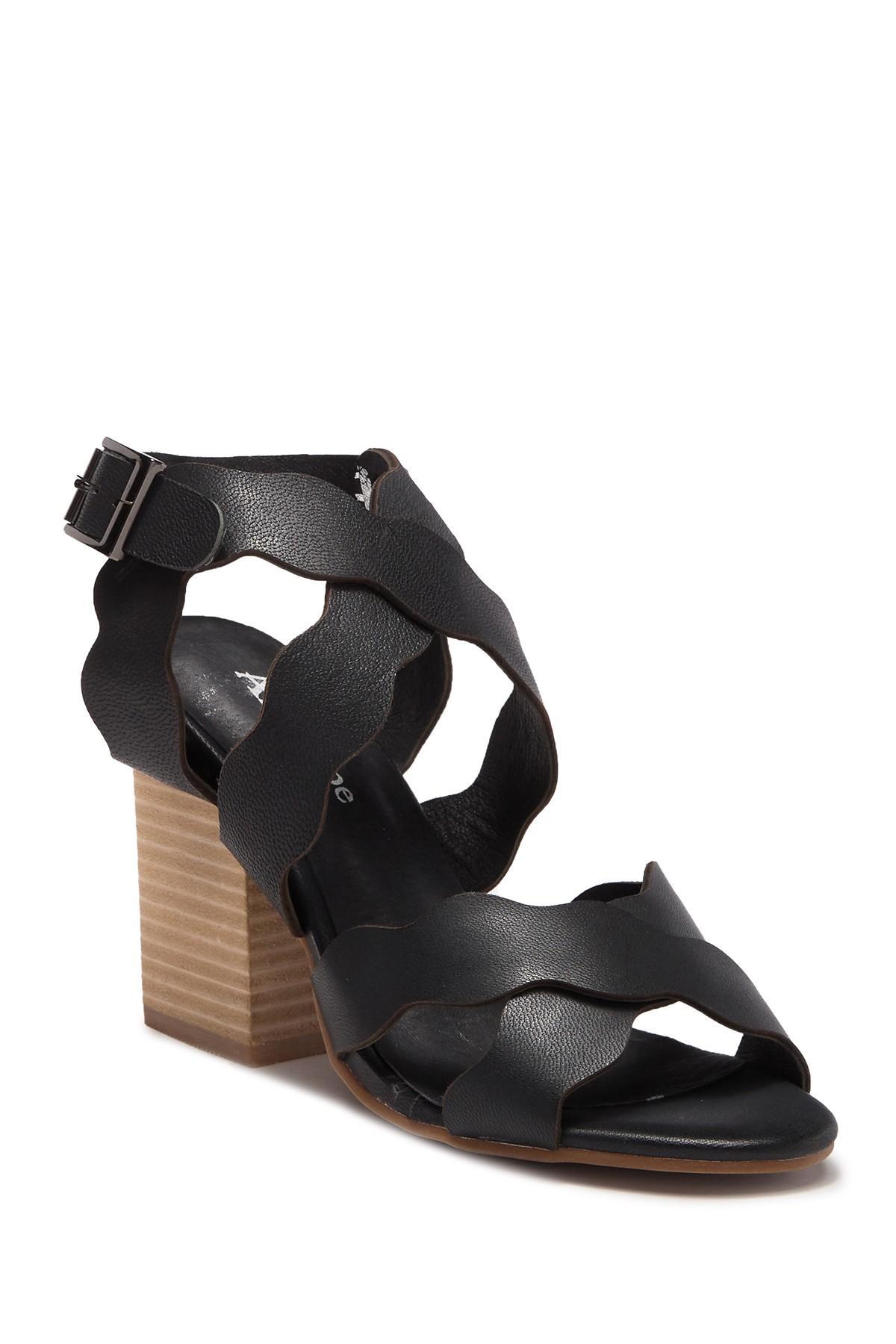 11b77d082dd Lyst - Antelope Scalloped Classic Sandal in Black