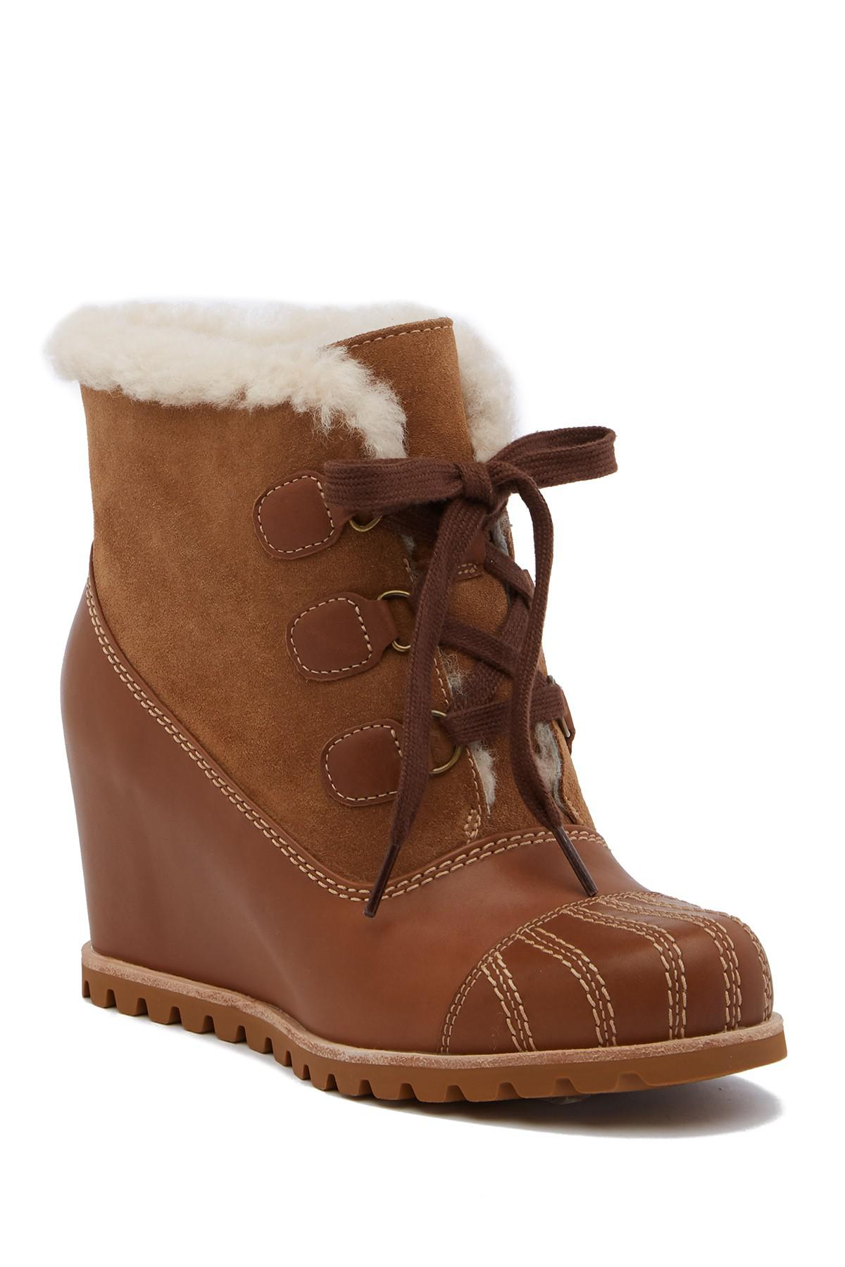 UGG Alasdair Genuine Shearling Wedge Bootie 1S73poAPB9