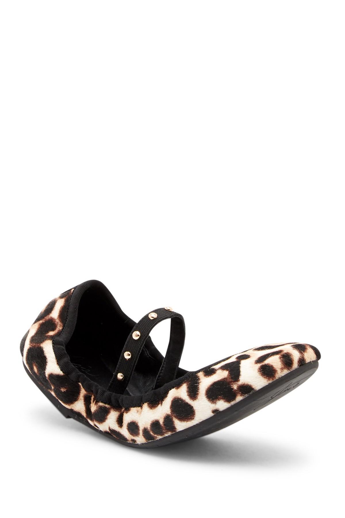 a3ab17fc3 Lyst - Joie Haddie Genuine Calf Hair Ballet Flat in Black