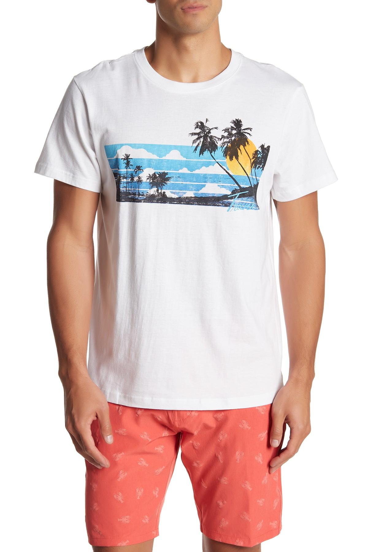b27cb97c66074 Lyst - TRUNKS SURF AND SWIM CO Tropical Graphic Print T-shirt in ...