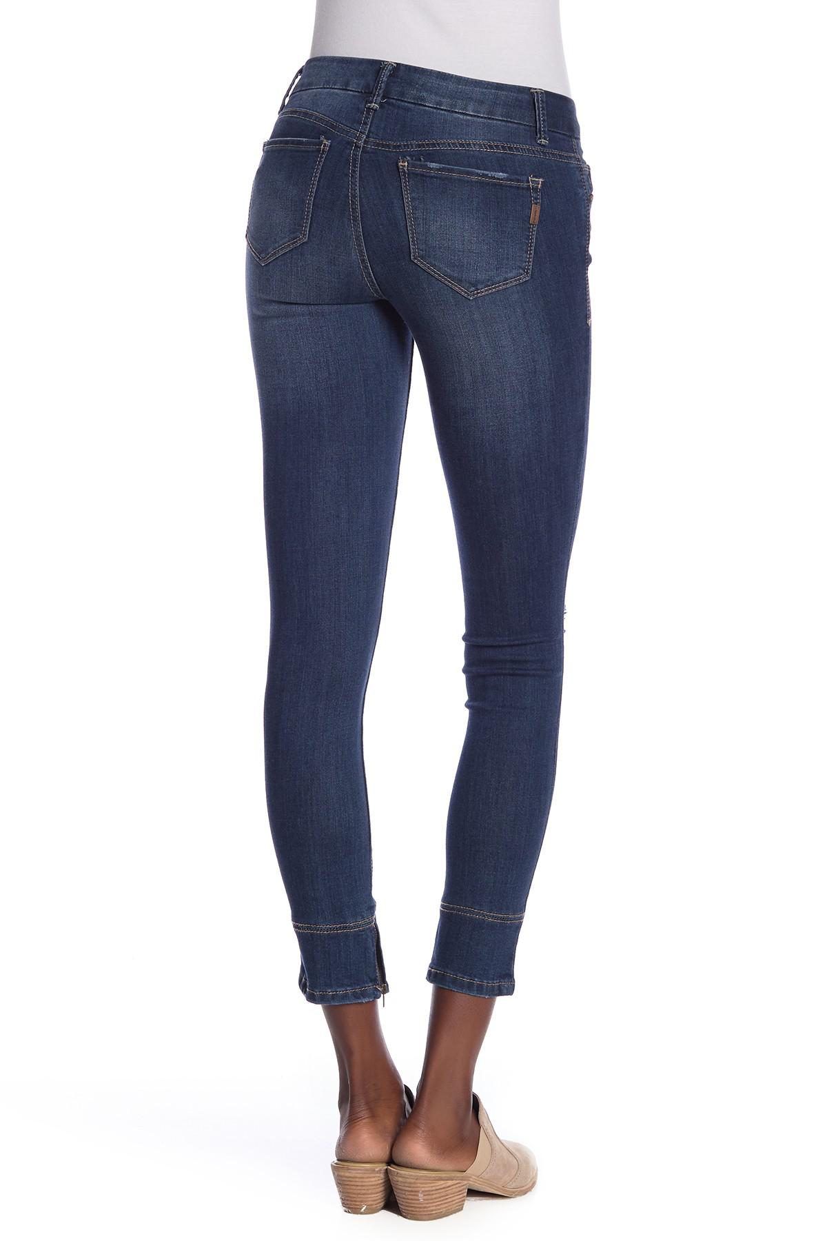 41f4ec86936 1822 Denim - Blue Ankle Zipper Skinny Jeans - Lyst. View fullscreen