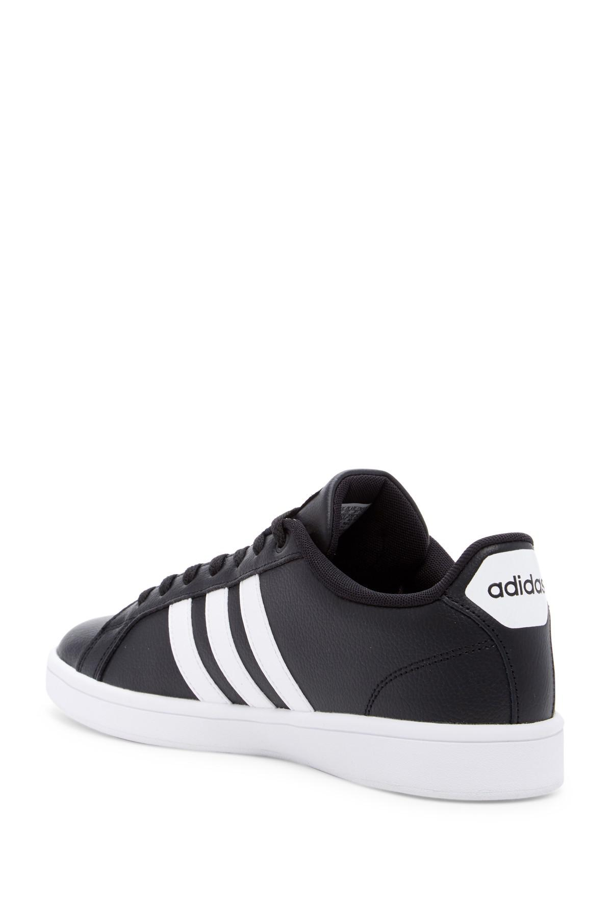 55fcaa915 Adidas - Black Cloudfoam Advantage Leather Sneaker for Men - Lyst. View  fullscreen