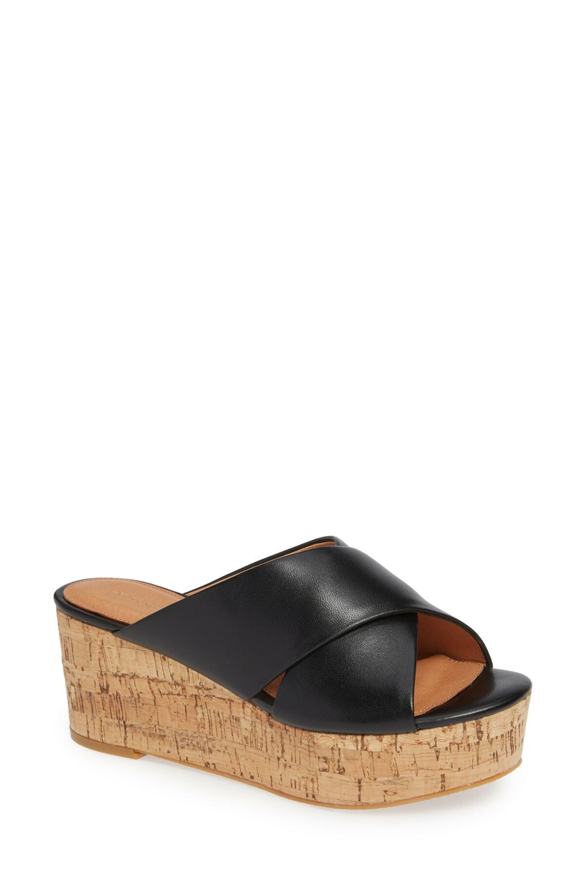 1663c301417 Lyst - Halogen (r) Elena Platform Wedge Sandal (women) in Black