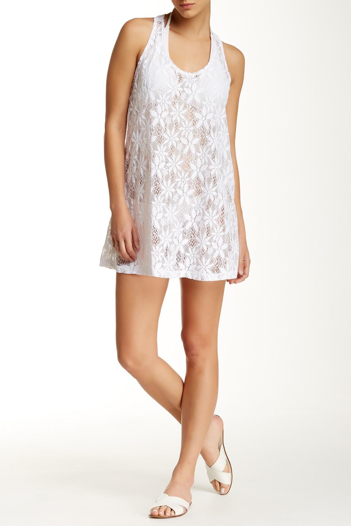 f80d670db9 Lyst - J Valdi Daisy Crochet T-back Tank Dress in White