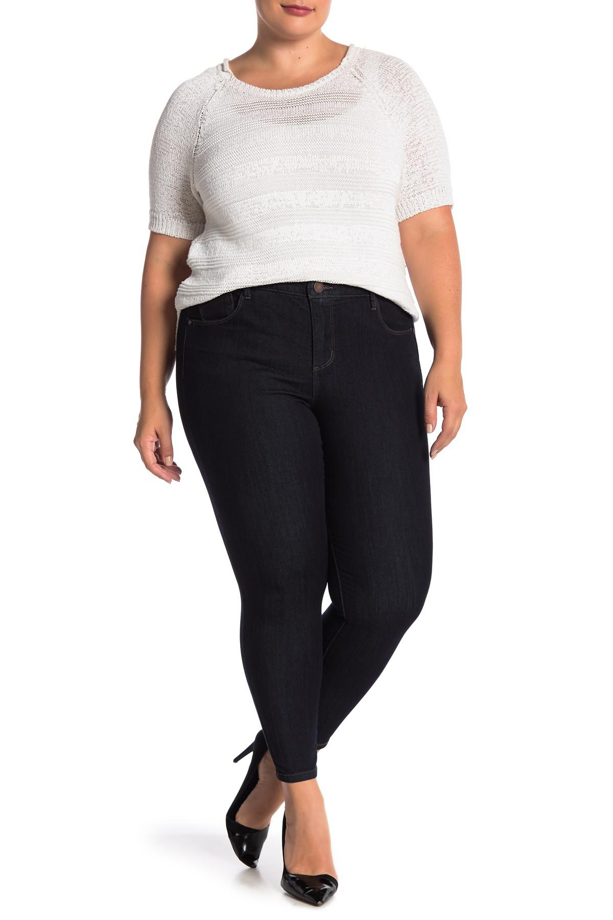 d78eb2187ce ... Rise Tummy Control Ankle Skinny Jeans (plus Size) - Lyst. View  fullscreen