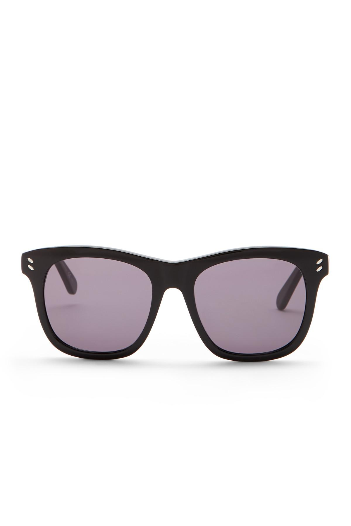 51f69dc8fde5 Stella McCartney - Black 52mm Square Sunglasses - Lyst. View fullscreen
