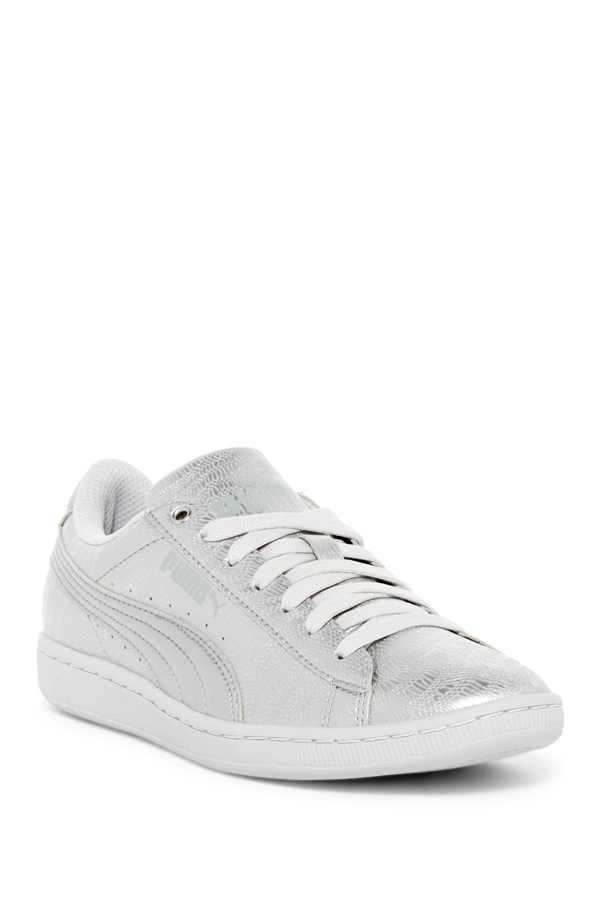 73825972986 Lyst - Puma Vikky Metallic Foam Sneaker in Gray