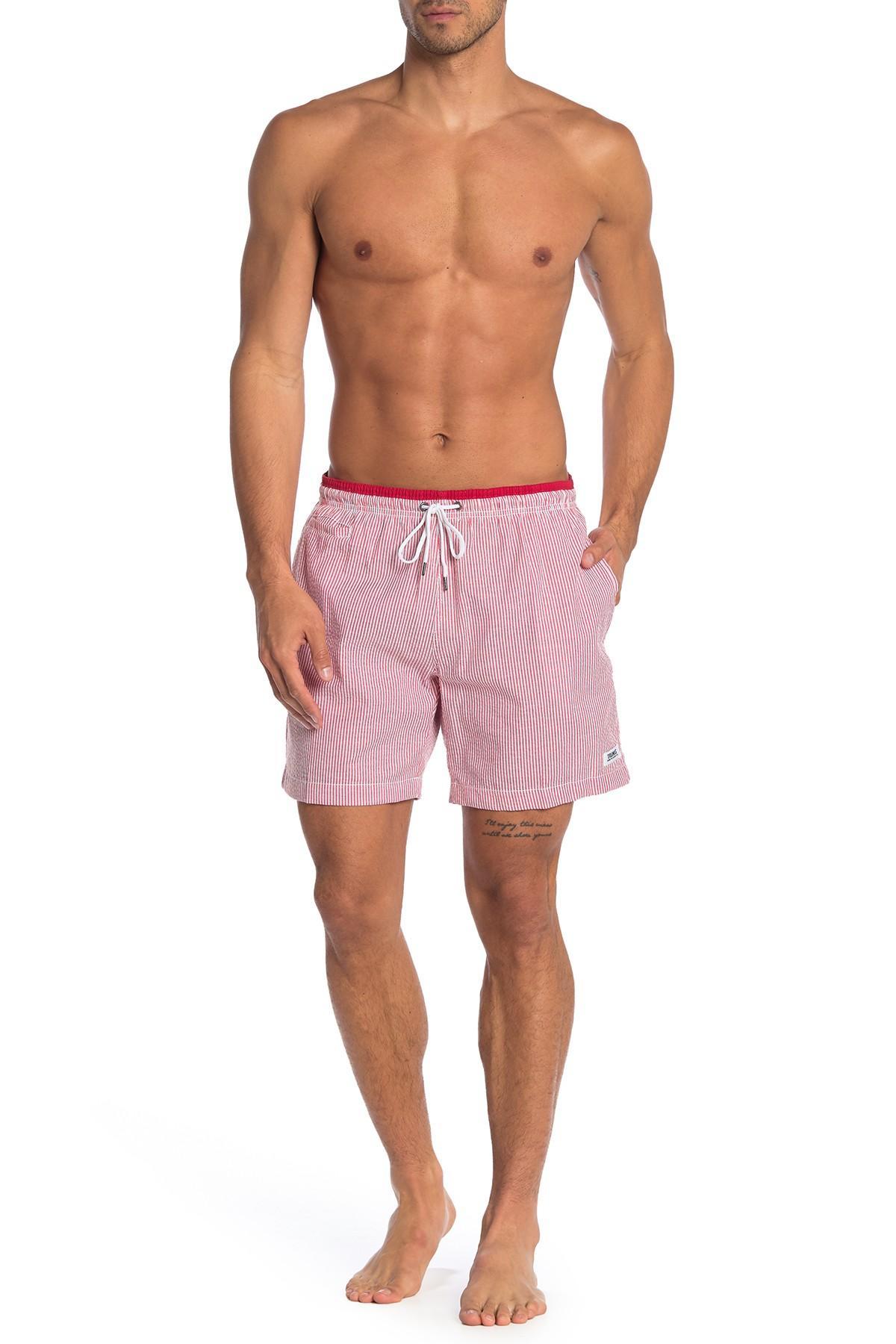 9964220955cde Lyst - TRUNKS SURF AND SWIM CO Premium Striped Sano Swim Shorts in ...