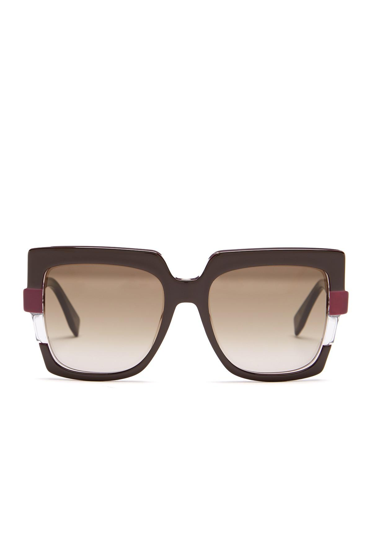 e7d1bf17a7 Lyst - Fendi Women s Metropolis 54mm Square Sunglasses