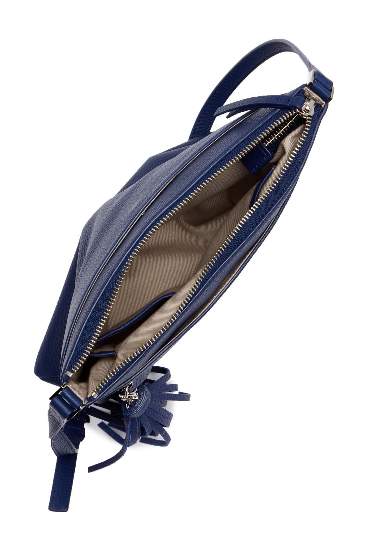 faf9cc7e2dd768 Halogen (r) Tasseled Leather Crossbody Bag in Blue - Lyst