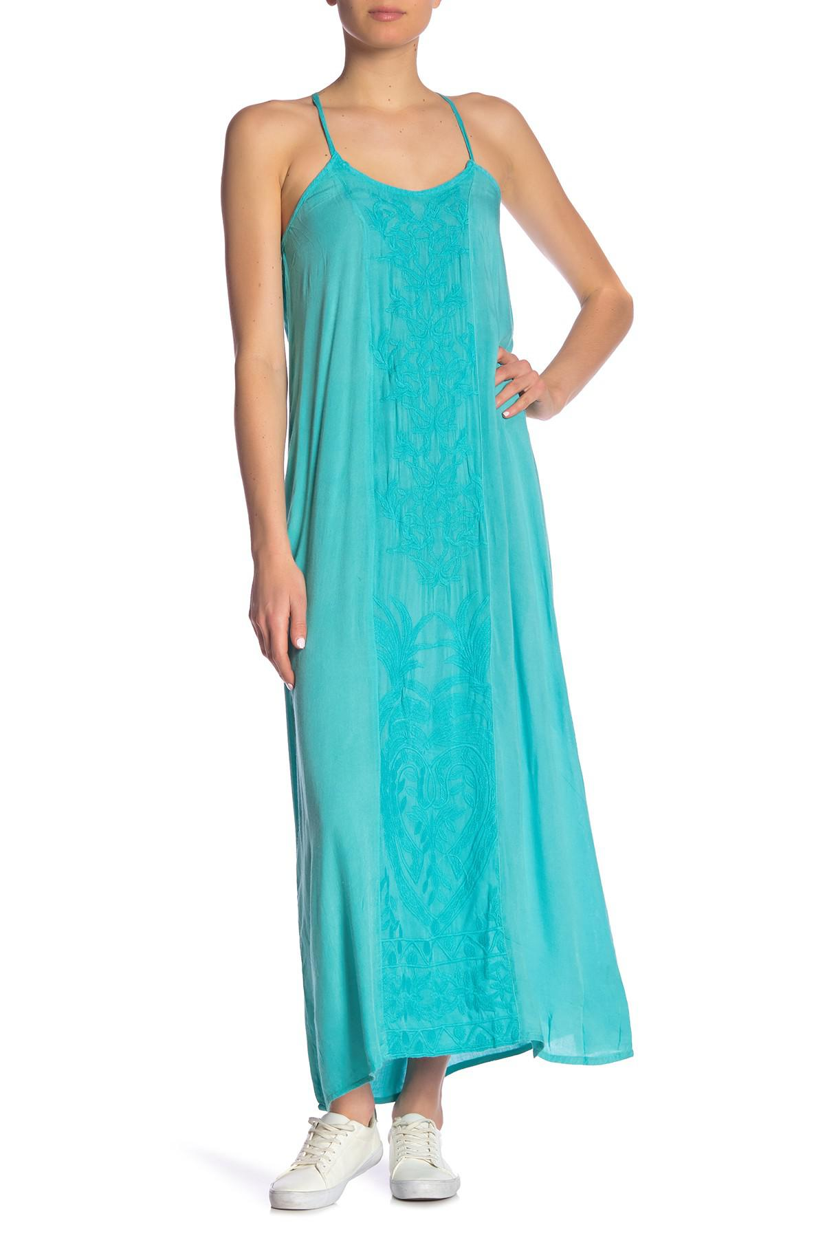 c9802900ed0 Lyst - Boho Me Embroidered Maxi Dress in Blue