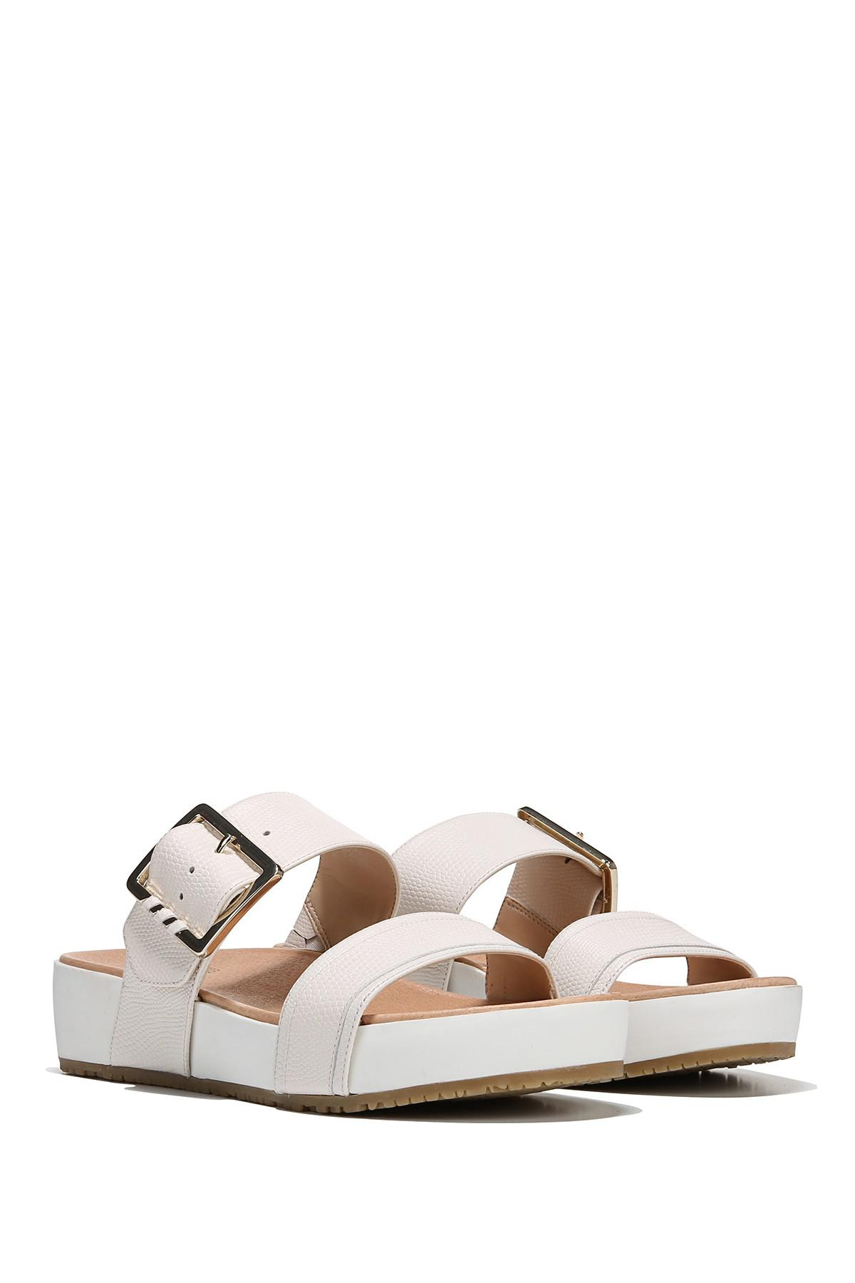 9b8bfb3f1c36 Lyst - Dr. Scholls Original Collection Frill Slide Sandal in White