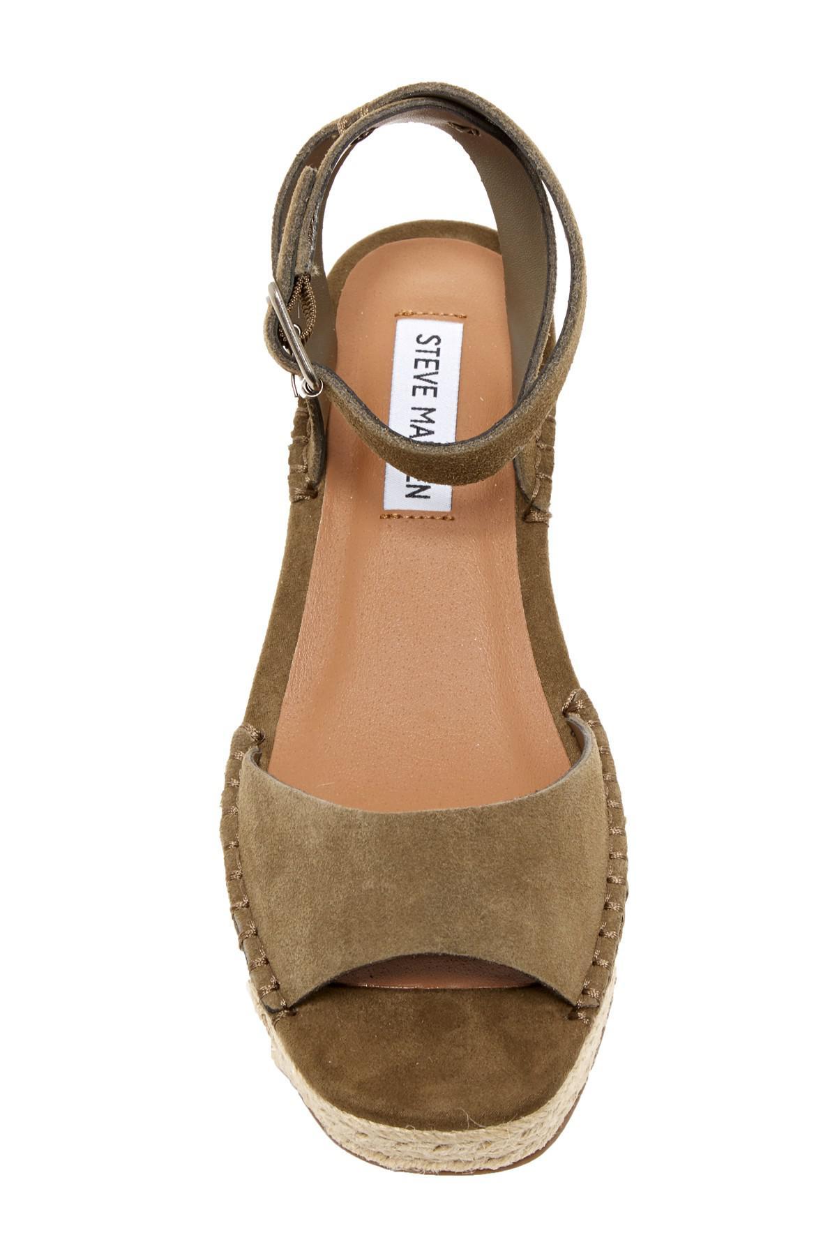 87d95f97385 Lyst - Steve Madden Elody Wedge Platform Sandal