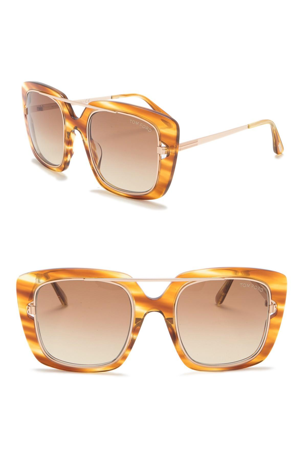442d35c1839 Tom Ford - Multicolor Marissa 52mm Square Sunglasses - Lyst. View fullscreen