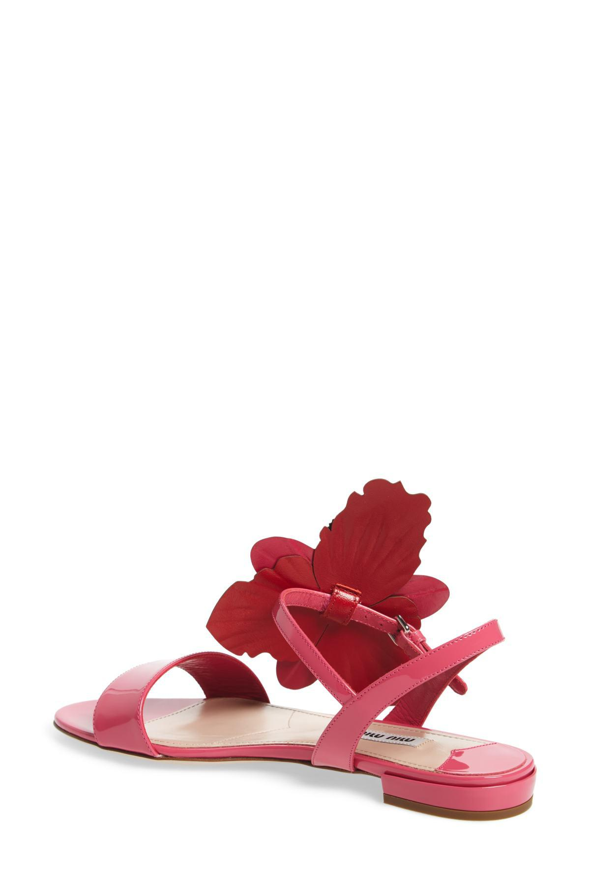check out 0e8ea 54b5c miu-miu-F0K9Z-PEONIA-ROSSO-Flower-Applique-Flat-Sandal.jpeg