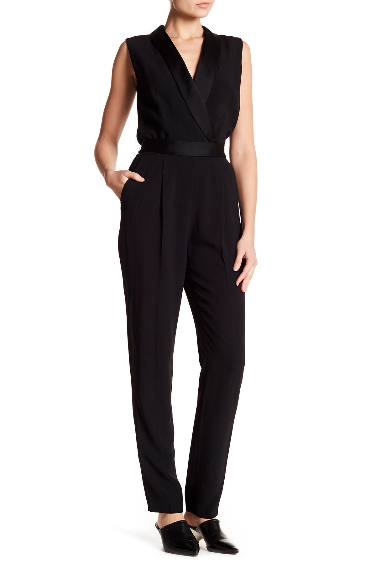 5bae734bcfd Lyst - BOSS Duxida Sleeveless Tuxedo Jumpsuit in Black