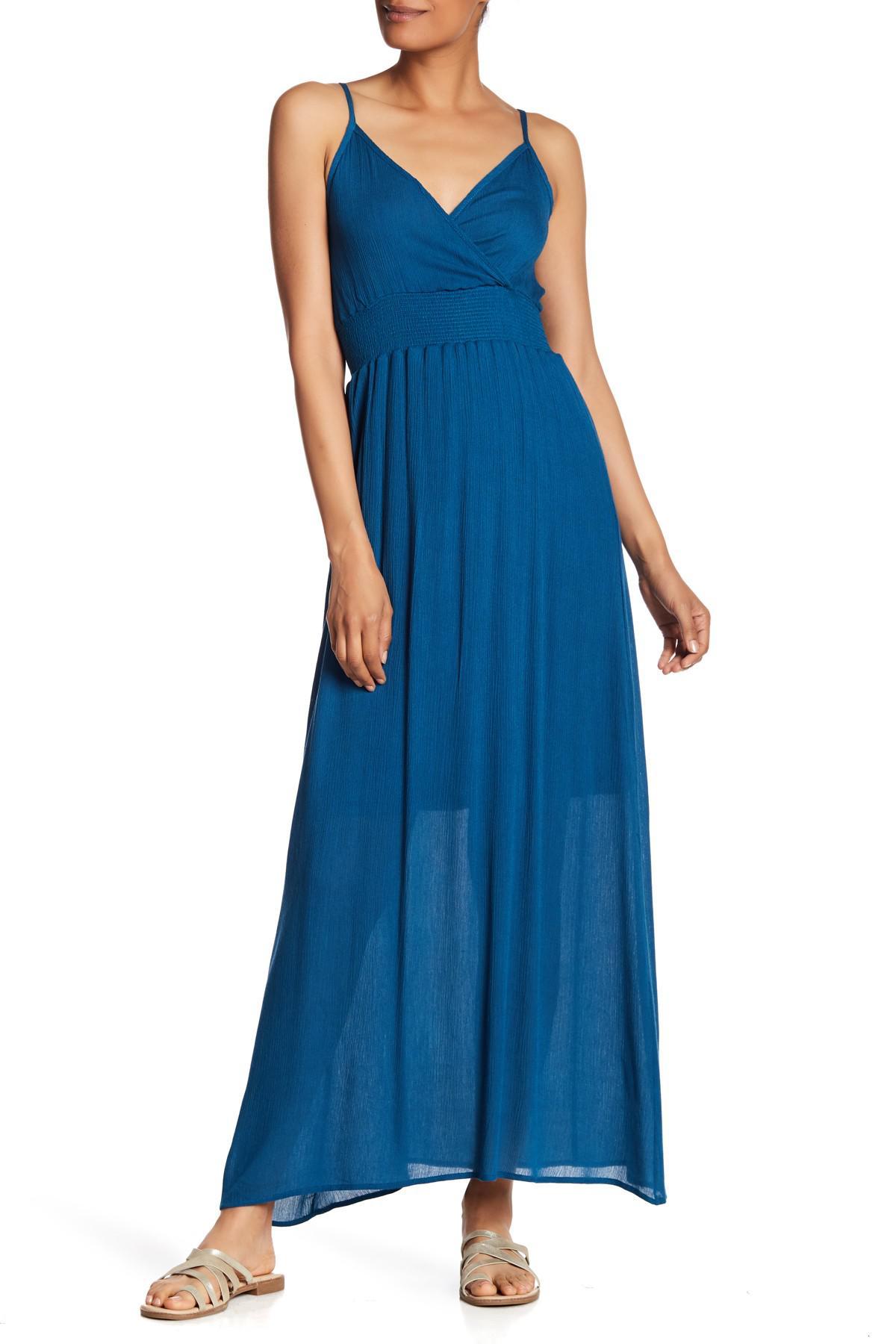 9cbe39f19e7 West Kei - Blue Gauze Maxi Dress - Lyst. View fullscreen