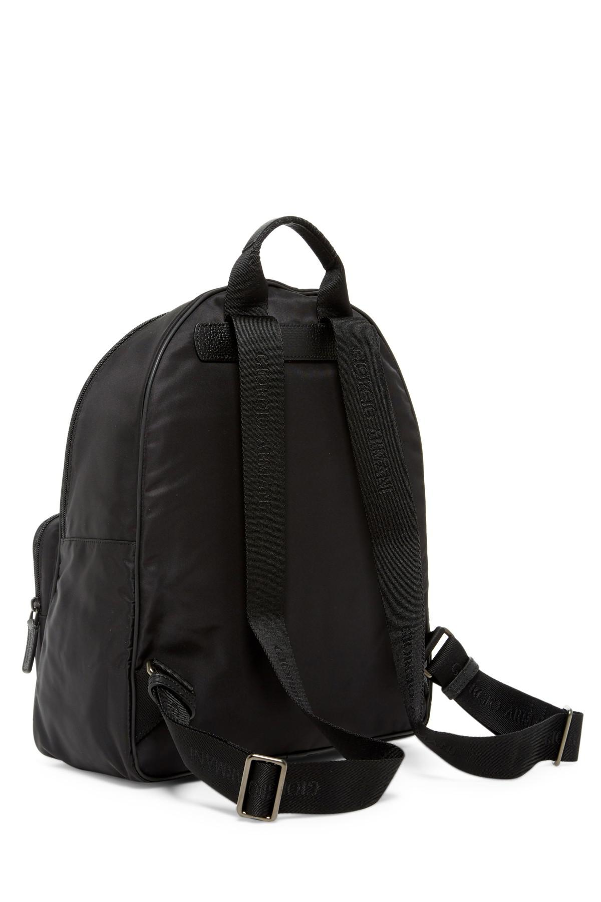 4434034e1523 Lyst - Giorgio Armani Nylon Backpack in Black for Men