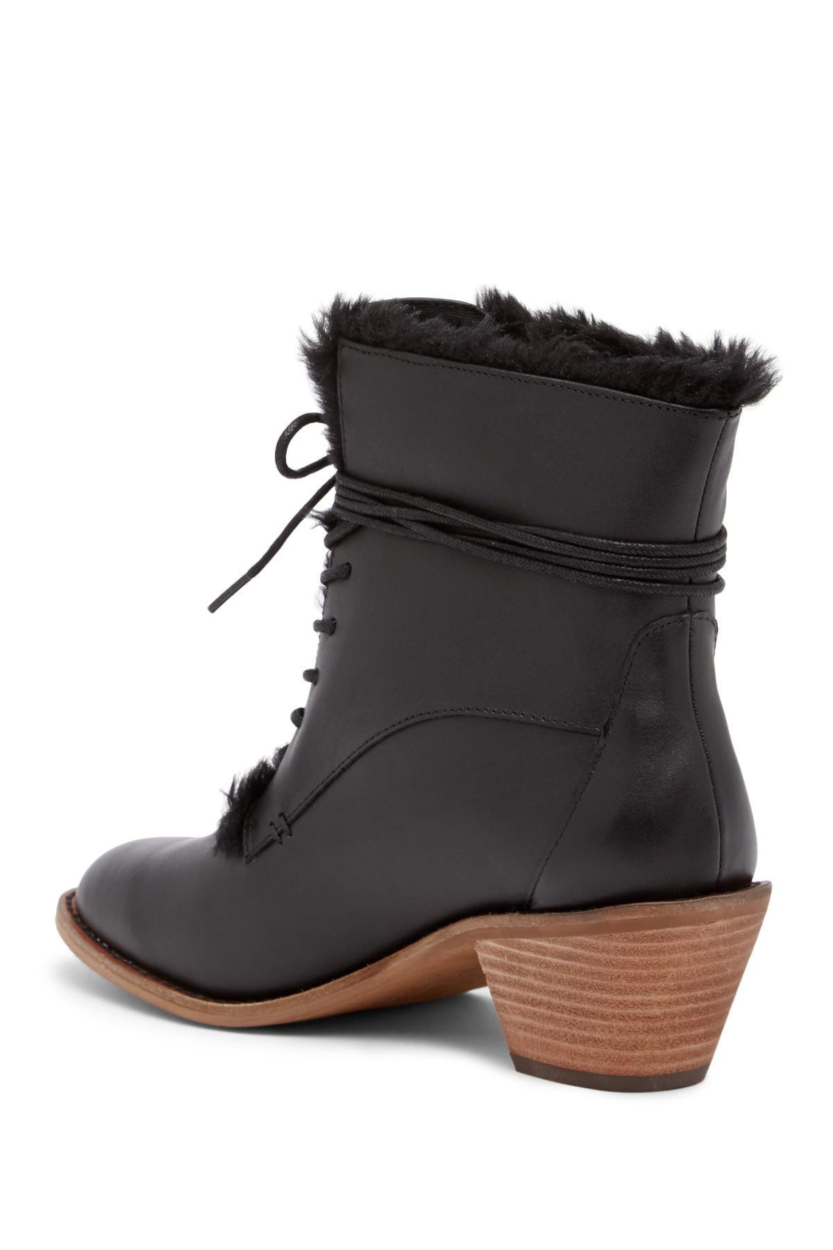 e9af14d54cf55 Lyst - Kelsi Dagger Brooklyn Kingsdale Faux Fur Lined Leather Boot ...