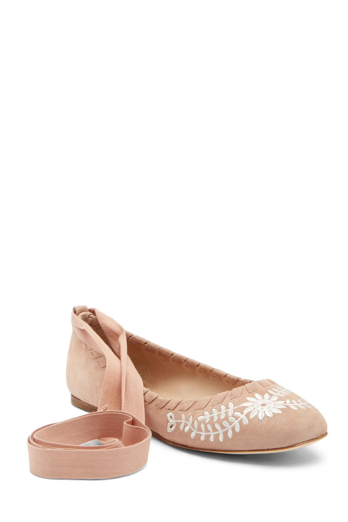 Via Spiga Baylie Embroidered Suede Flat VWprCaOM5