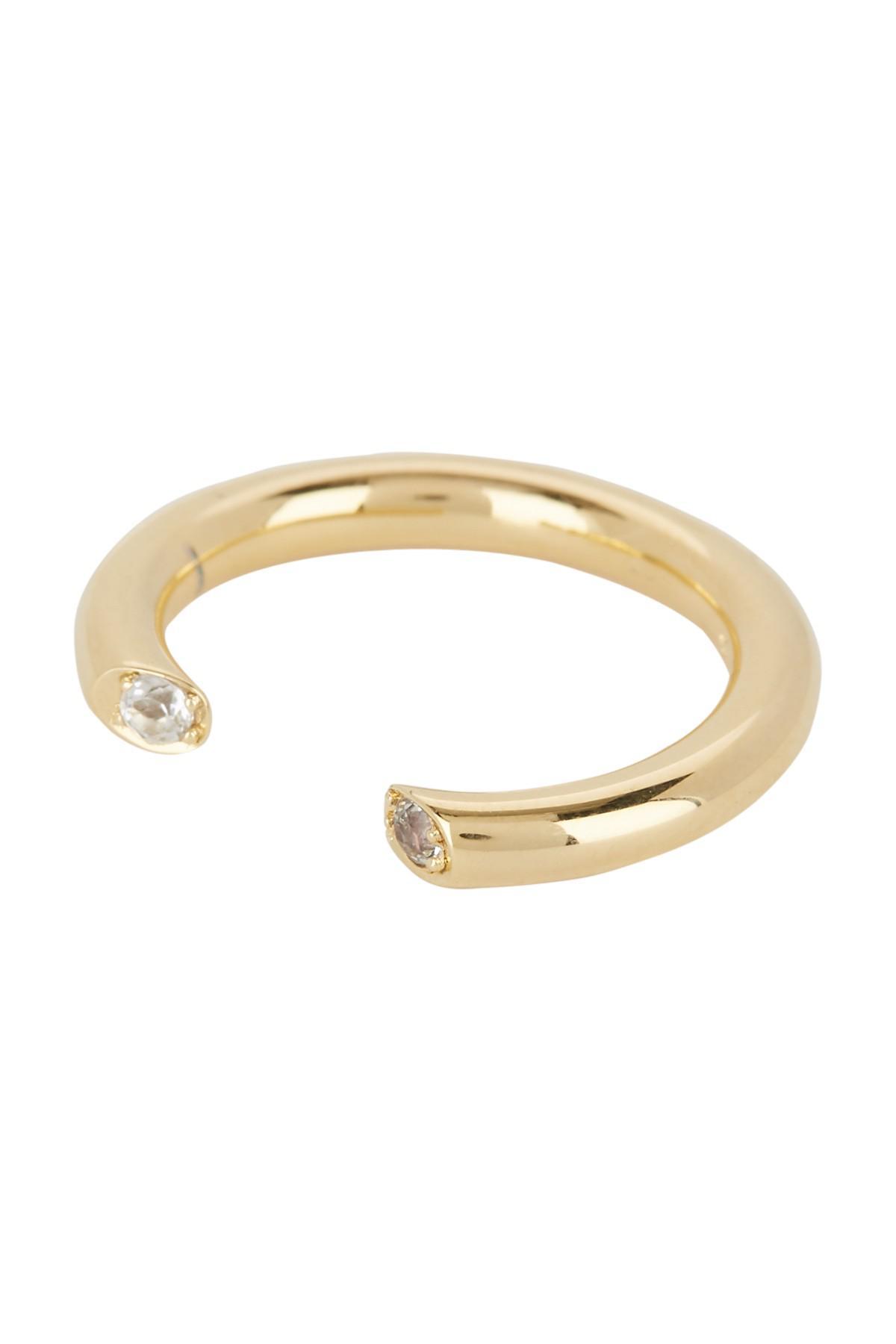 Elizabeth & James Elizabeth And James Woman Silver-tone Crystal Ring Silver Size 6 rir4MnUG