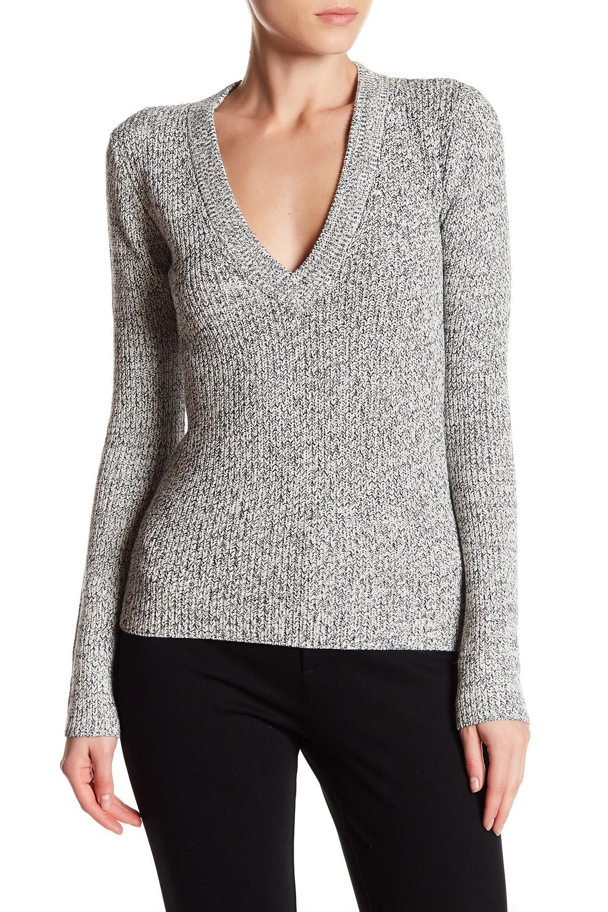 140b0dccbf Theory Basilla Prosecco Knit Sweater in Gray - Lyst