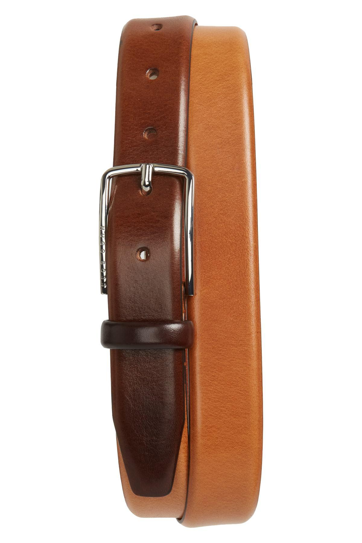 f3b1f9e60f8 Lyst - BOSS Chuck Leather Belt in Brown for Men