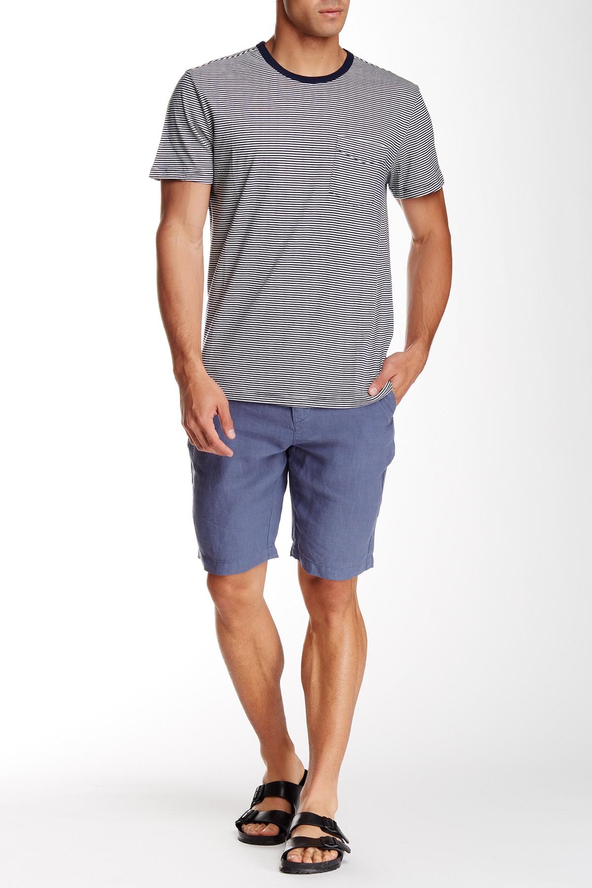 Slate And Stone Clothing : Slate stone cooper linen short in blue for men lyst