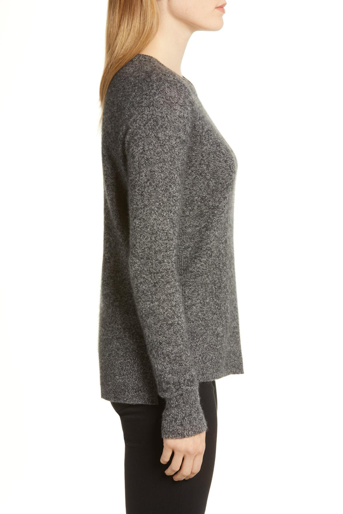d006a4ab0 Lyst - Halogen (r) Crewneck Cashmere Sweater (regular   Petite) in Gray